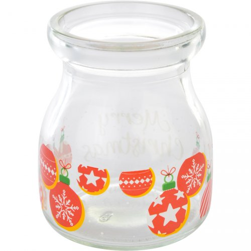 1 Pot Noël (7 cm) - Verre