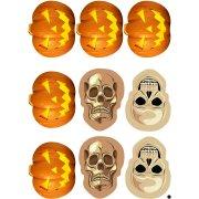 9 Stickers à Biscuits Halloween Terreur - Sucre