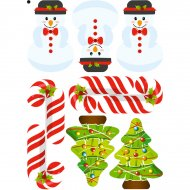 9 Stickers à Biscuits Joli Noël - Sucre