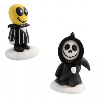 2 Figurines Halloween Jack (5 cm) - Sucre