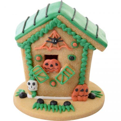 Maisonnette Biscuit Halloween (8 cm) - Vert