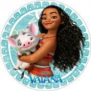 1 Disque Vaiana et son cochon (21 cm) - Azyme