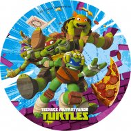 1 Disque Tortues Ninja Pizza (21 cm) - Azyme