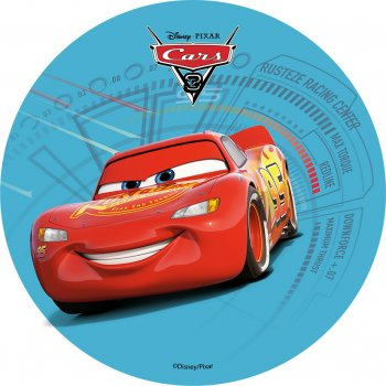 1 Disque Cars Flash Bleu  (21 cm) - Azyme