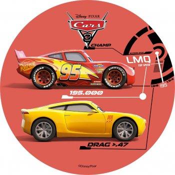 1 Disque Cars Rouge  (21 cm) - Azyme