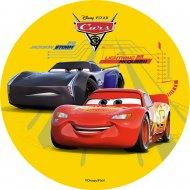 1 Disque Cars Jaune  (21 cm) - Azyme