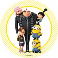 1 Disque Les Minions Little Familly  (21 cm) - Azyme