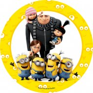 1 Disque Les Minions Big Familly (21 cm) - Azyme