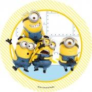 1 Disque Les 4 Minions (21 cm) - Sucre