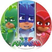 1 Disque Pyjamasques 3 Bandes (21 cm) - Sucre