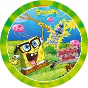 1 Disque Bob l'Eponge Vert (21 cm) - Sucre