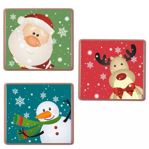3 Plaquettes Choco Noël (5 cm) Chocolat au Lait