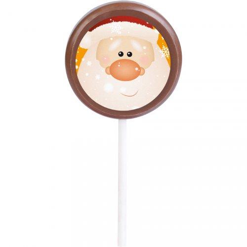 1 Sucette Père Noël (20 g - 5 cm) - Chocolat au Lait