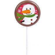 1 Sucette Bonhomme de neige (5 cm - 20 g) - Chocolat au Lait
