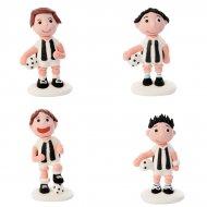 2 Footballeurs en sucre Noir et Blanc