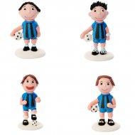 2 Footballeurs en sucre Bleu
