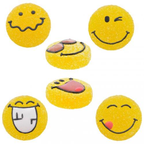 3 Emojis (3 cm) - Sucre gélifié