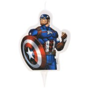 1 Bougie Captain America (9 cm)