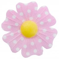 10 Fleurs Roses à Pois Daisy (4,5 cm) - Azyme