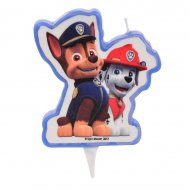 1 Bougie Pat Patrouille - Marcus + Chase (9 cm)