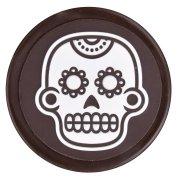 3 Médaillons Calavera (4,5 cm) - Chocolat Noir