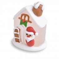 Mini Maison Enneigée 3D Père Noël (4,5 cm) - Sucre