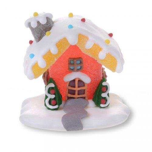Maison Hansel 3D Rouge (6 cm) - Sucre