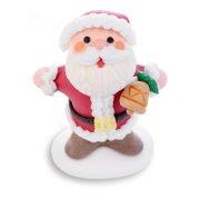 2 Père Noël Heureux 3D (7 cm) - Sucre