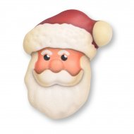2 Têtes de Père Noël 2D (6 cm) - Chocolat Blanc