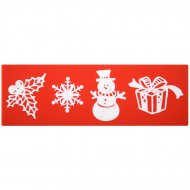 Moule Empreinte Motifs Noël (20 cm) - Silicone