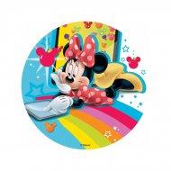 Disque Minnie Rainbow (18,5 cm) - Sans sucre/gluten/palme