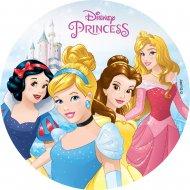 Disque Princesses Disney (18,5 cm) - Sans sucre/gluten/palme