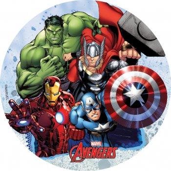 Disque Avengers (18,5 cm) - Sans sucre/gluten/palme