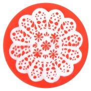 Moule Empreinte Fleurs Rosace (7,5 cm) - Silicone