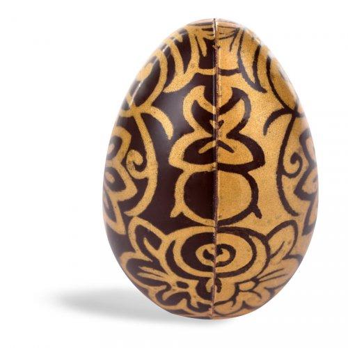 4 Oeufs Chocolat 3D (4 cm) - Or Nacré