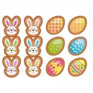 12 Stickers à Biscuits Pâques