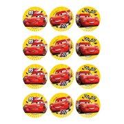 12 Stickers à Biscuits Cars (5,5 cm) - Sucre