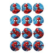 12 Stickers à Biscuits Spiderman (5,5 cm) - Sucre
