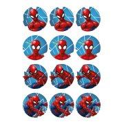 12 Stickers à Biscuits Spiderman (5,5 cm) - Sucre