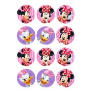 12 Stickers à Biscuits Minnie et Daisy (5,5 cm) - Sucre
