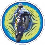 Disque Moto Action Bleu/Vert (21cm) - Azyme