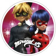 Disque Miraculous Rose Duo (21 cm) - Azyme