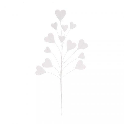 1 Bouquet de Coeurs en Sucre - Blanc