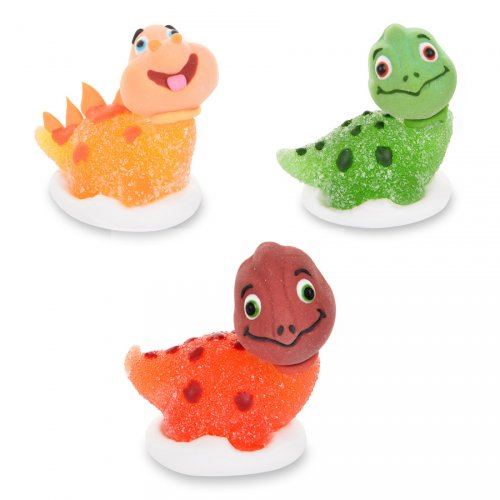 3 Figurines Happy Dino 3D - Sucre gélifié
