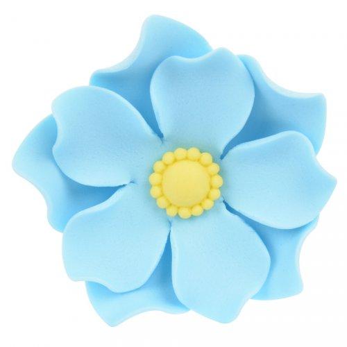 1 Grande Fleur Capucine Bleue 3D (5 cm) - Sucre