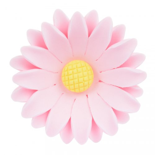 1 Grande Fleur Marguerite Rose 3D (5 cm) - Sucre