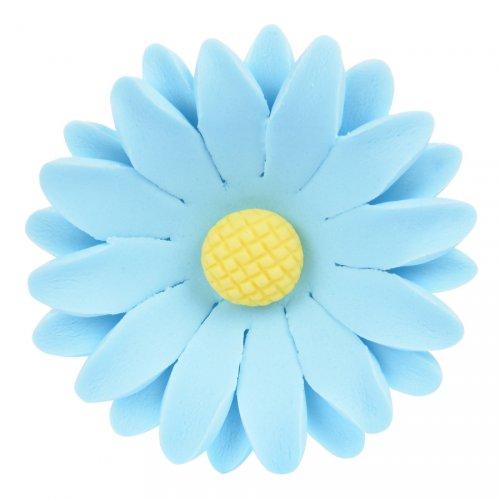 1 Grande Fleur Marguerite Bleue 3D (5 cm) - Sucre