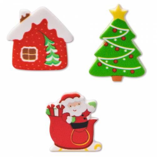 3 Décors de Noël - Sucre (3 cm)