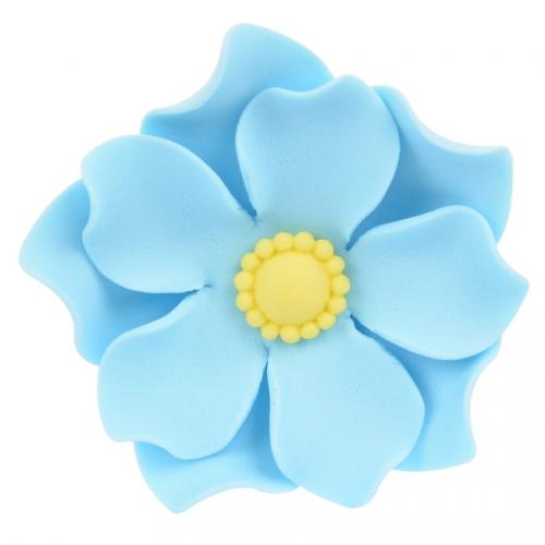 1 Fleur Capucine Bleue 3D (4 cm) - Sucre