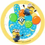 Disque en Sucre Minions Ballons (18.5 cm)
